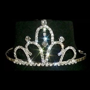 Accessories - Silver crystal rhinestone tiara hairband crown